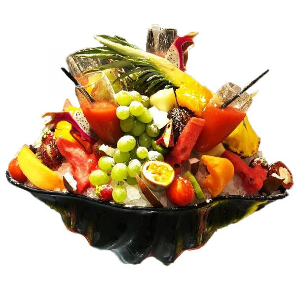 composizione di frutta esotica